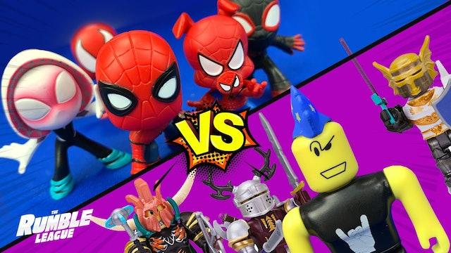 RumbleMania Tag Tournament Part 2: Spider-Man's Warriors vs Roblox Rocks!
