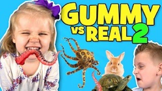 Gummy Food vs Real Food Challenge Part 2