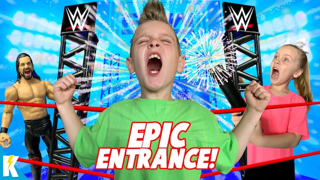 KidCity Makes an EPIC ENTRANCE! (on the WWE Wrekkin' Entrance Stage!)