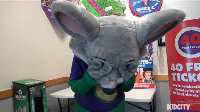 Ava Makes Chuck E Cheese Cry!