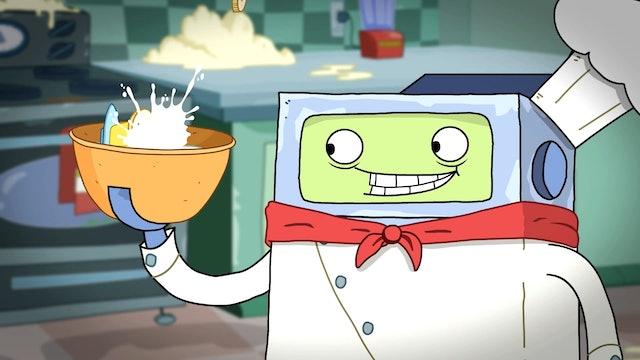 Top Bot | Bananas Vs Robots | Bucket Full of Brobot | Adventures in Robo-Sitting