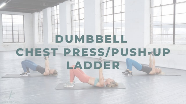 Dumbbell Chest Press/Push-up Ladder (Strength)
