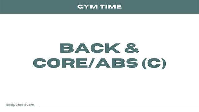 Back & Core/Abs (C)