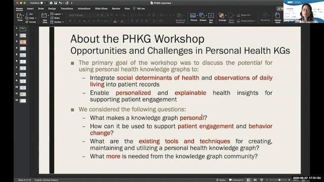 Workshop Summary | The Personal Healt...