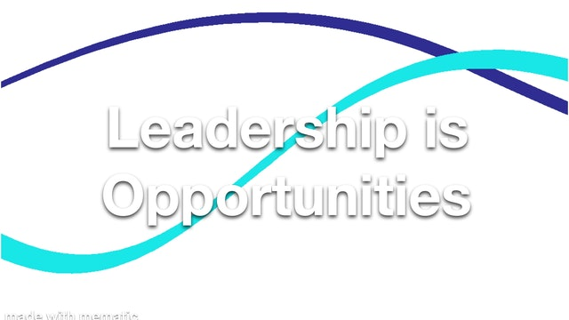 Leadership is Opportunities