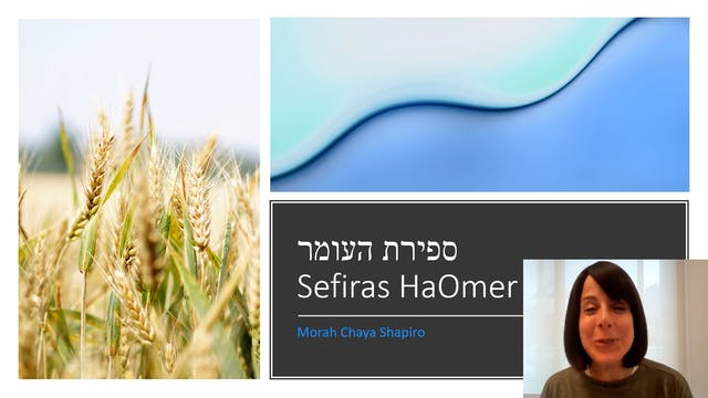 Morah Chaya - What is Sefiras Haomer?