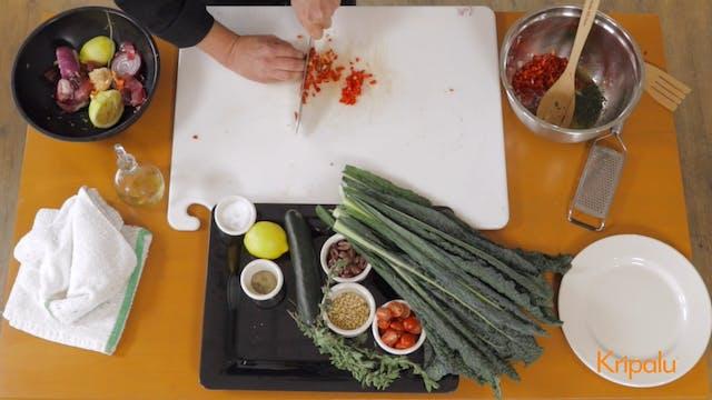 How to Make Kale Salad, Kripalu Style