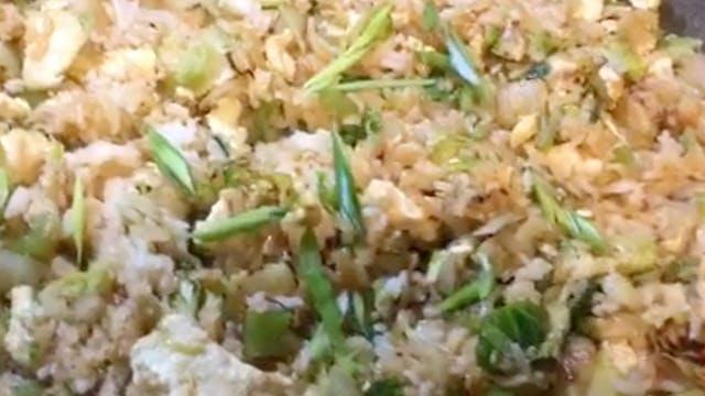 Green Veggie Fried Rice