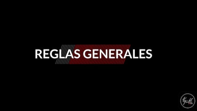 NUTRICIÓN - MARZO 2021 - REGLAS GENERALES