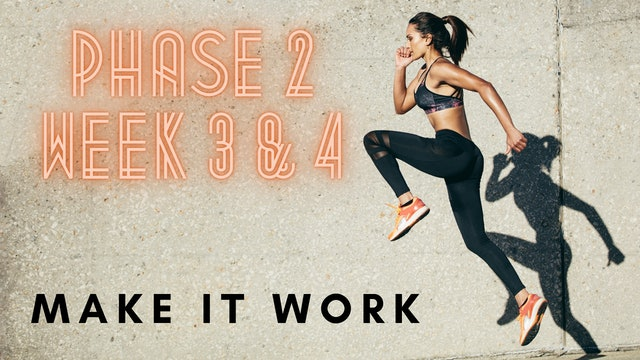 ep.5 - Phase 2 - Weeks 3 & 4 - Making it work