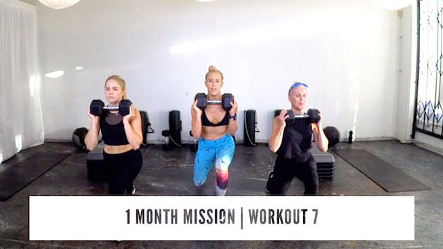 1 Month Mission | WORKOUT 7