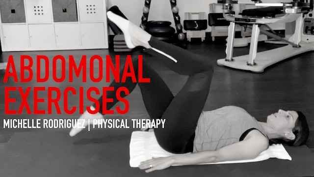 Physical Therapy: Michelle Rodriguez | Abdominal Exercises