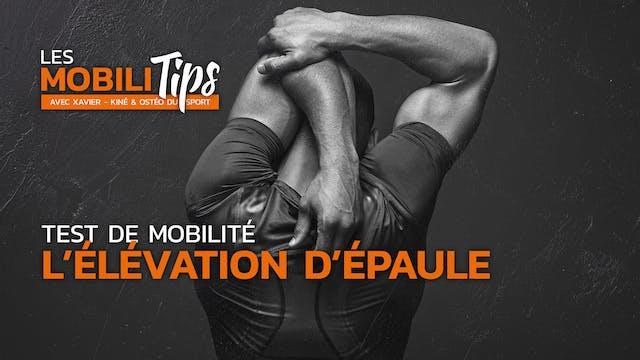 Test de mobilité : l'élévation d'épaule