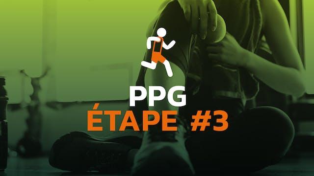 PPG - Étape #3