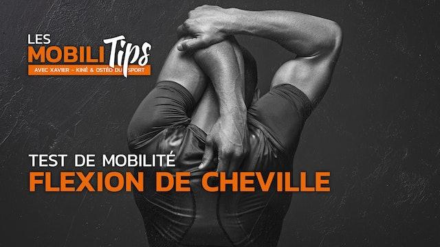 Test de mobilité : la flexion de cheville