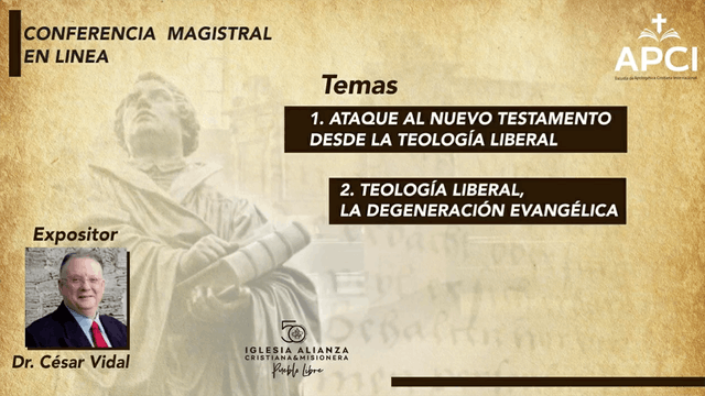 Conferencia Magistral: Dr. César Vidal - 06/11/20