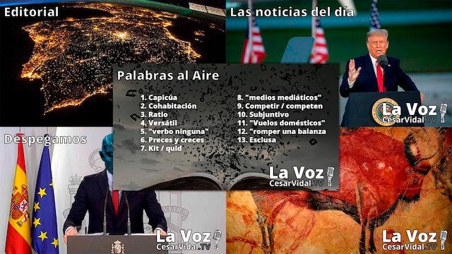 Programa Completo de La Voz de César Vidal - 14/09/20