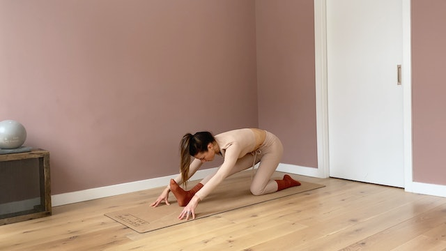 Lower body stretching series