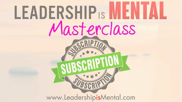 Leadership Masterclass Subscription