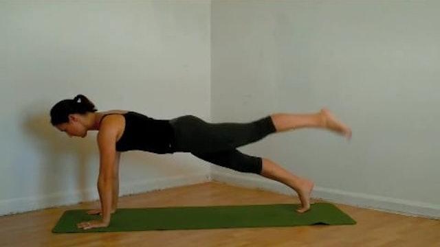 Plank with Leg Isolations I