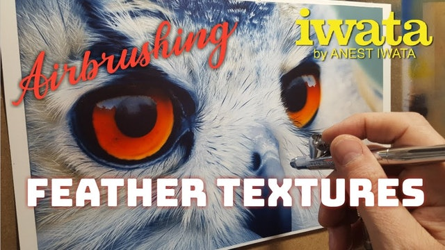 Airbrushing Feather Textures