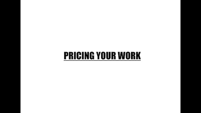 Pricing your work