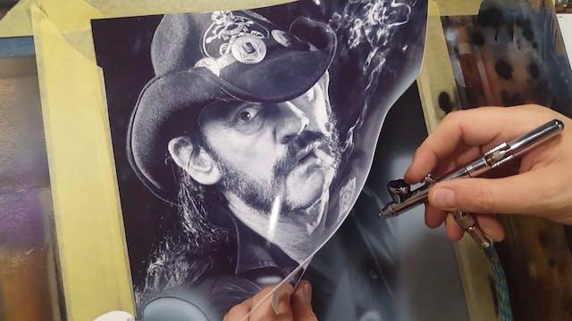 Airbrushing Lemmy (Part 3)