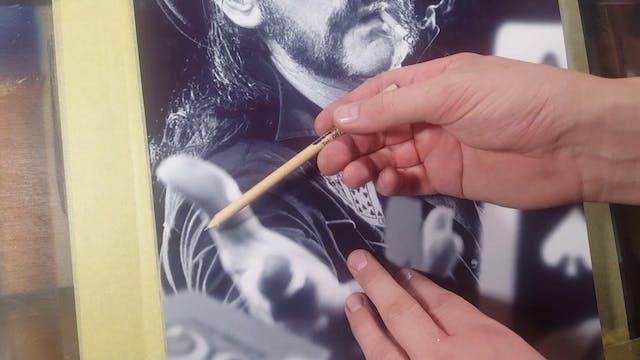 Airbrushing Lemmy (Part 2)
