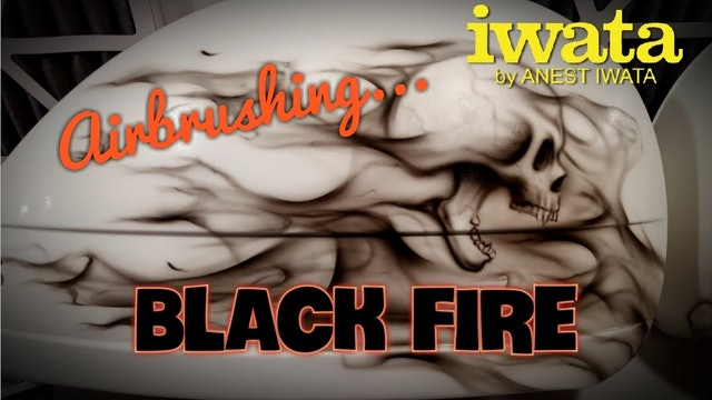 Airbrushing Black Fire