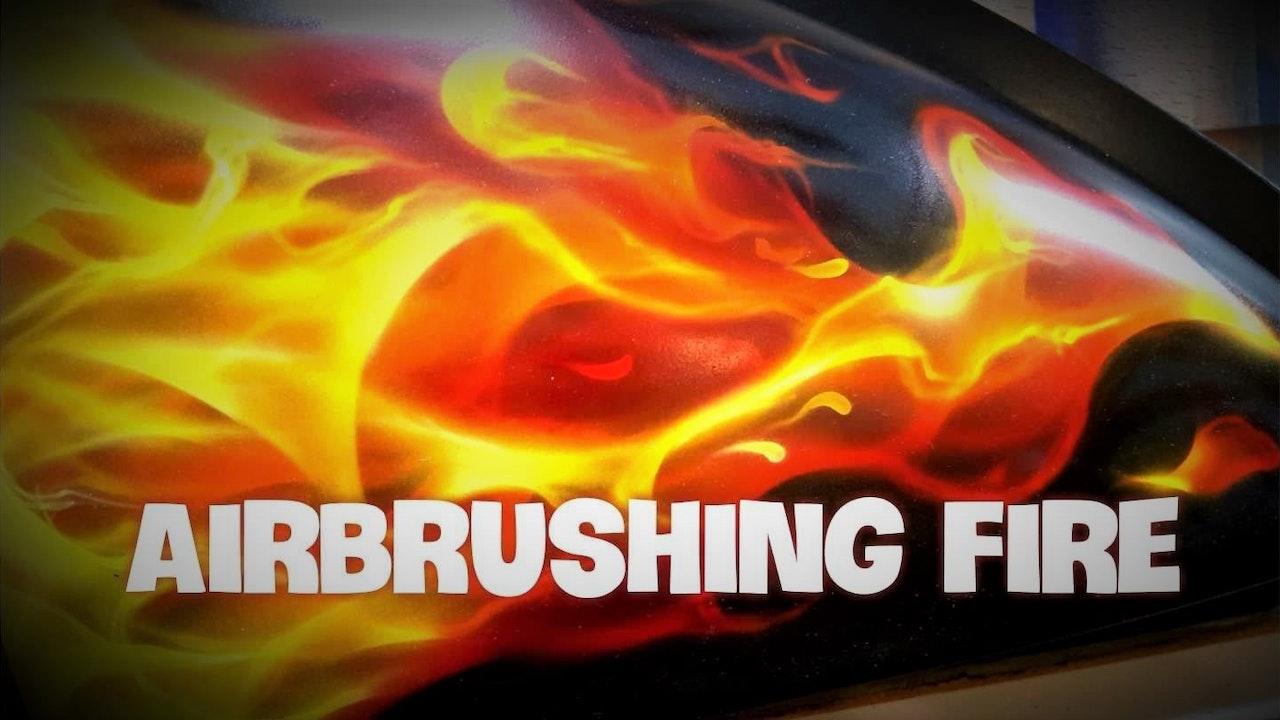Airbrushing Fire