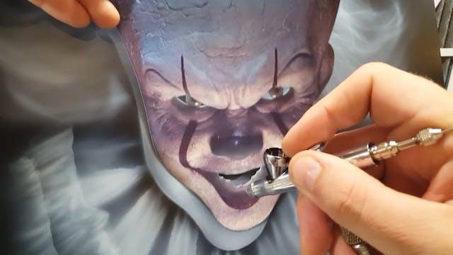 Airbrushing a Custom Clown Part 3