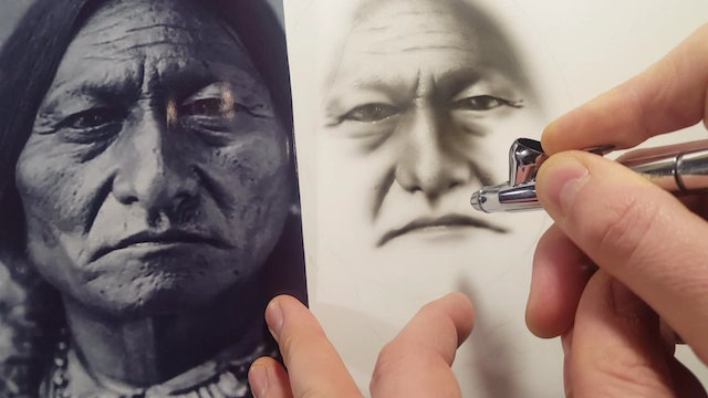 Airbrushing A Native American (Part 2)