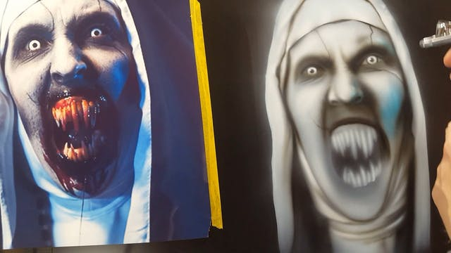 Airbrushing The NUN (Part 2)