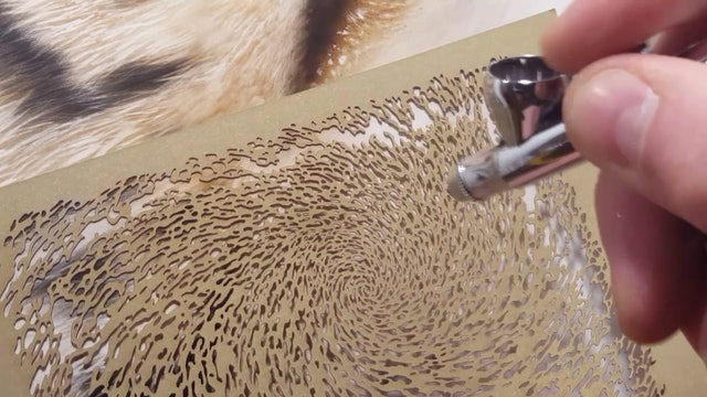 Airbrushing Tiger Textures (Part 3)