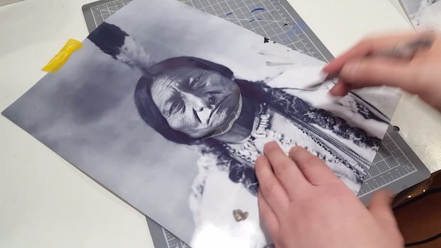 Airbrushing a Native American (Part 3)