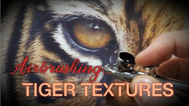 Airbrushing Tiger Textures