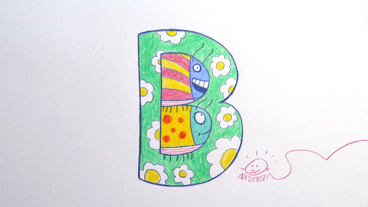 Learn To Draw ABC - B is for Beetles
