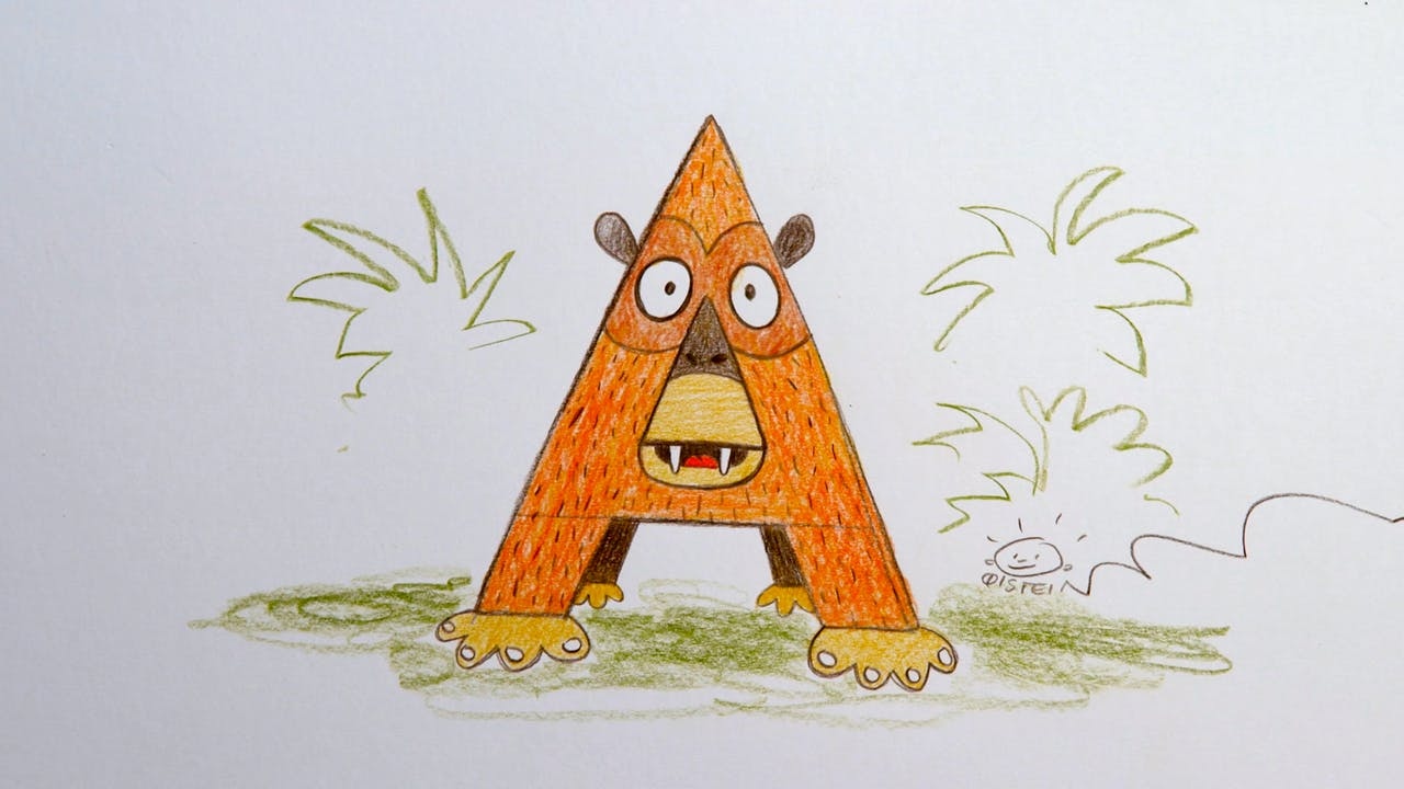 Learn To Draw ABC - A is for Ape