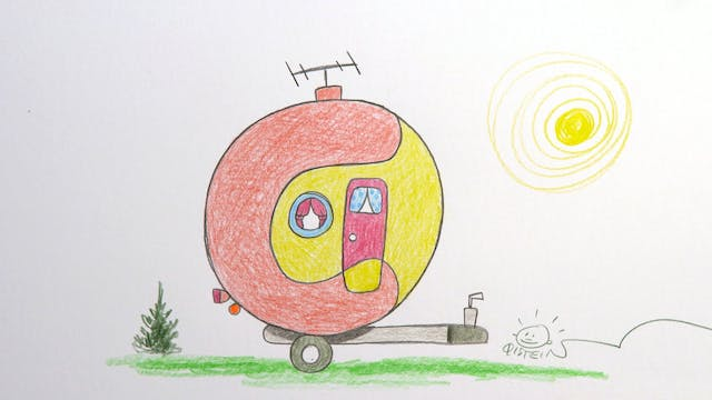 Learn To Draw ABC - C is for Caravan