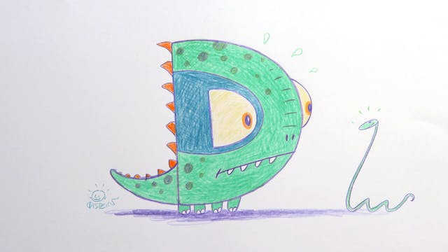 Learn To Draw ABC - D is for Dinosaur