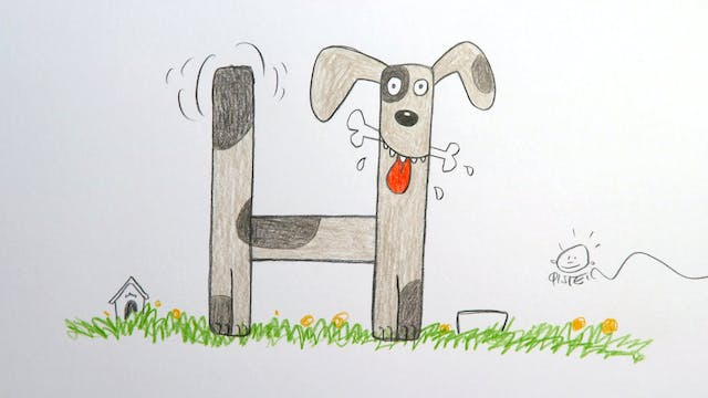 Learn To Draw ABC - H is for Hound