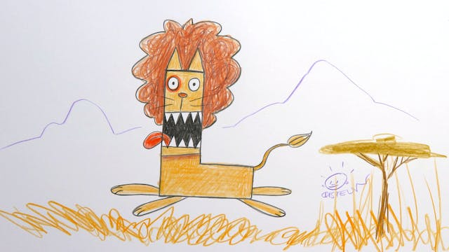 Learn To Draw ABC - L is for Lion