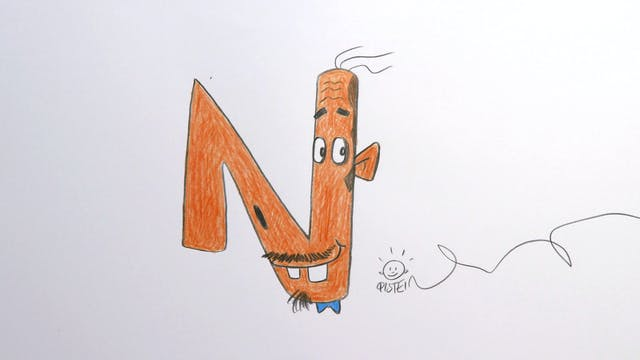 Learn To Draw ABC - N is for Nose