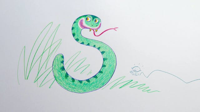 Learn To Draw ABC - S is for Snake