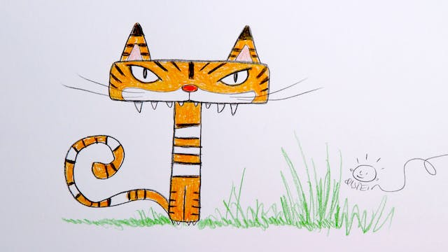 Learn To Draw ABC - T is for Tiger