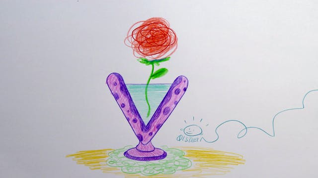 Learn To Draw ABC - V is for Vase