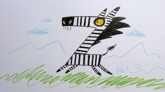 Learn To Draw ABC - Z is for Zebra