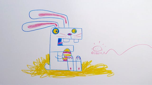 Learn To Draw ABC - BONUS - E for Easter Bunny