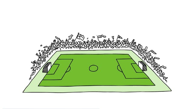 Learn To Draw Minis - Football Pitch