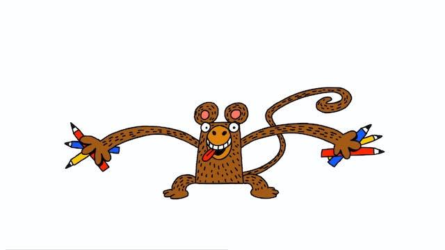 Learn To Draw Minis - Monkey